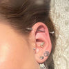 industrial earrings piercing