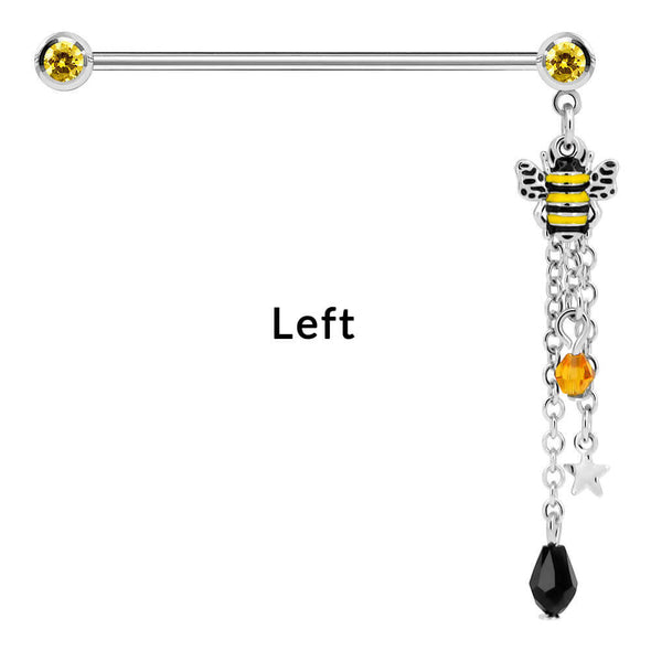 bee dangle industrial barbells