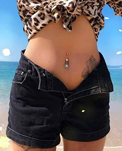 top belly button ring