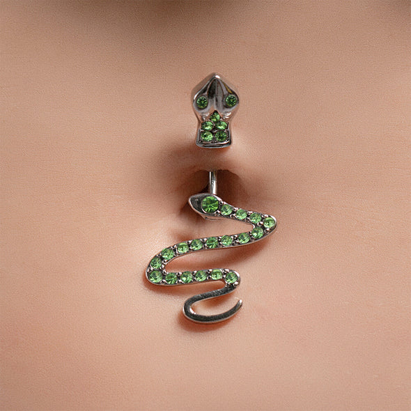 snake belly button ring