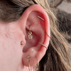 14K Gold Woven Conch Earring 16G 3/8'' Daith Earring - OUFER BODY JEWELRY