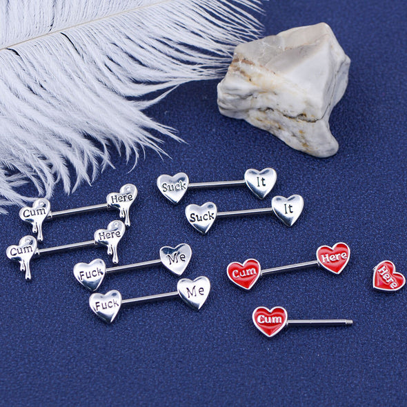 oufer heart shaped nipple jewelry packs