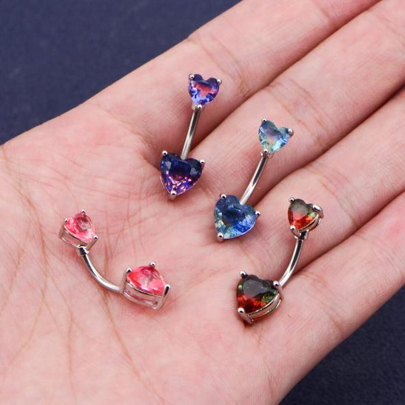 colorful belly button ring