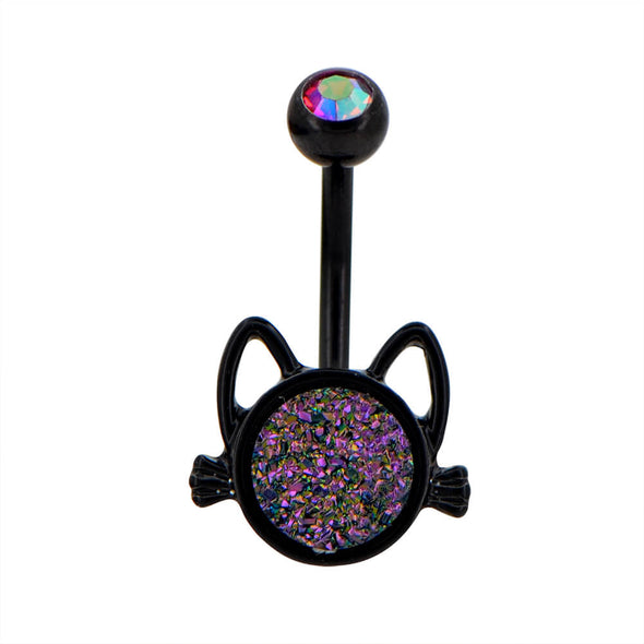 oufer black cat belly rings