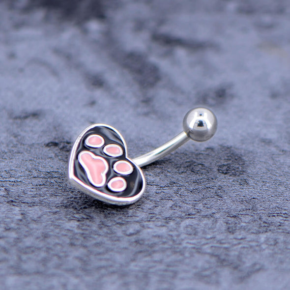 pink and black navel ring