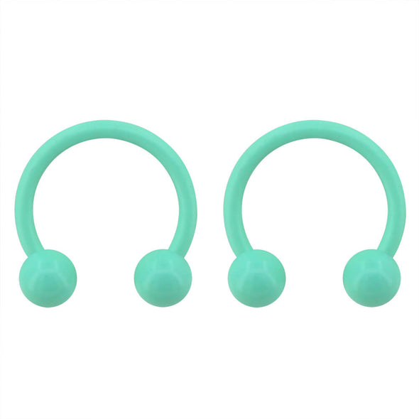 oufer green septum horseshoe rings