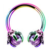 16G 3/8'' rainbow Dragon-Claw Septum Ring - OUFER BODY JEWELRY