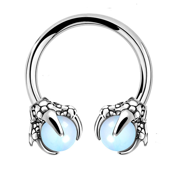 blue dragon claw septum ring - OUFER BODY JEWELRY