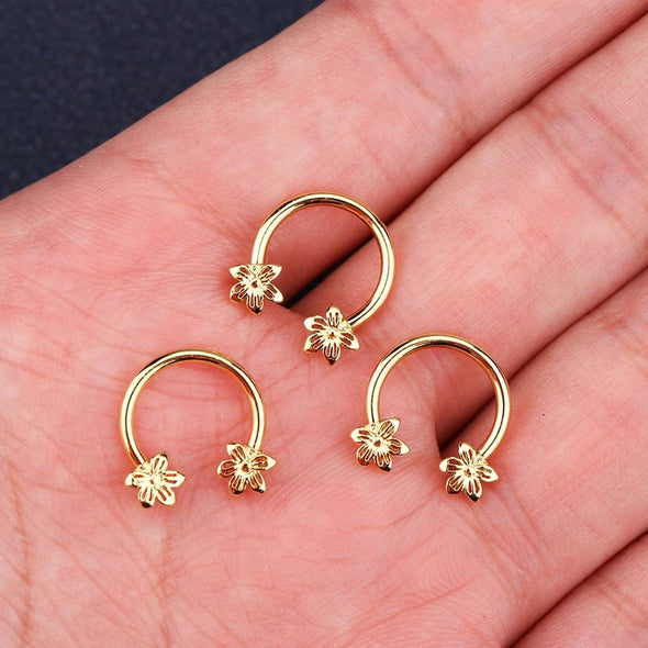 16g flower septum ring