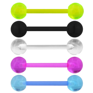 Clear Tongue Rings