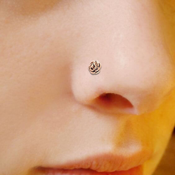 3pcs Nose Hoop Rings 20g Rose Flower Nose Piercing Body Jewelry