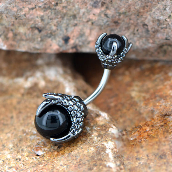 black belly button ring