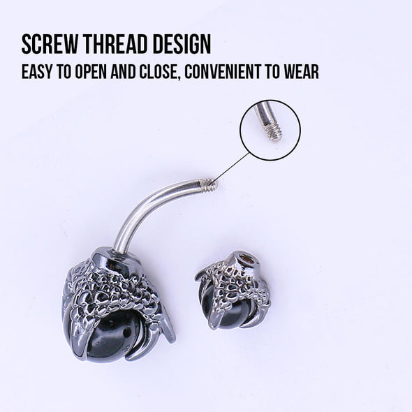 oufer screw dragon claw belly ring