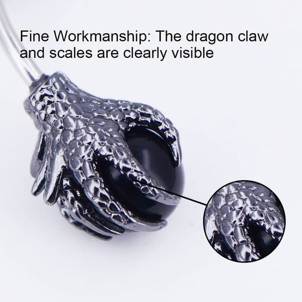 OUFER 14g dragon claw belly ring