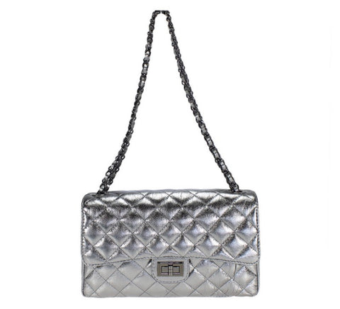 Chain Large Quilted Shoulder Bag
