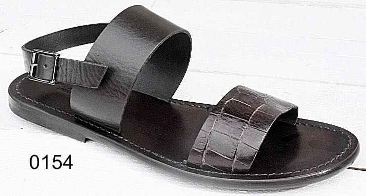 100% Made in Italy Brown Strap Sandals