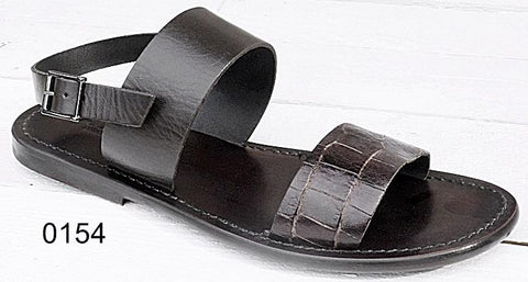 Men's Shoe Brown Strap Sandals