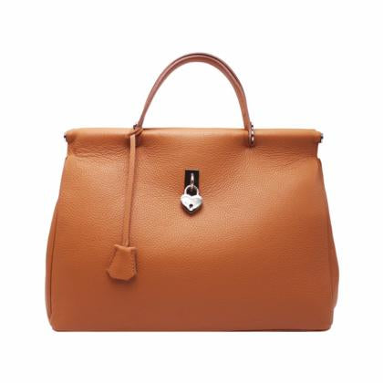Top Handle Large Leather Tote Bag