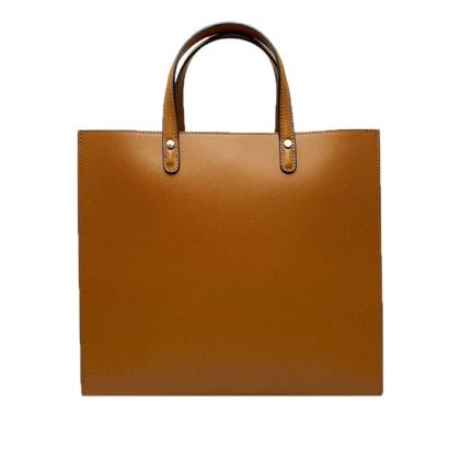 Top Handle Leather Handbag
