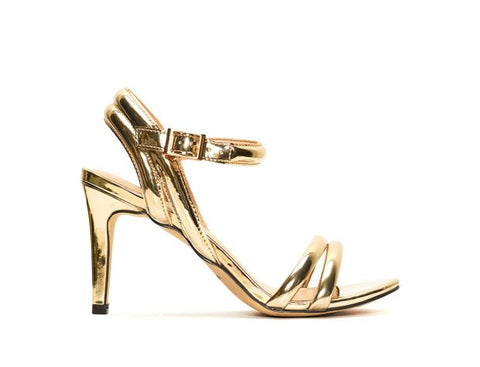 Menbur Gold Shoe Platform High Heel Sandals