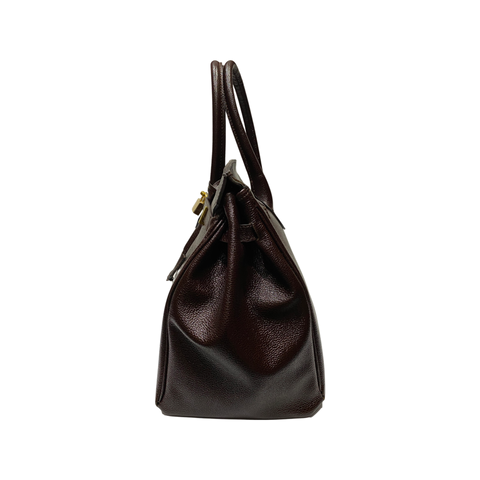 Top Handles Oversized Leather Tote Bag