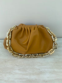 Chain Pouch Leather Small Shoulder Bag