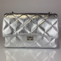Teefamm Quilted Soft Leather Oversized Shoulder Bag