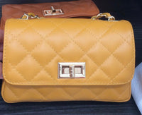 Quilted Small Gold Shoulder Bag