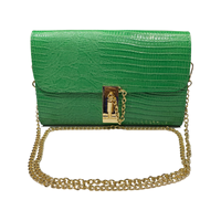 Croco Leather Evening Clutch Bag