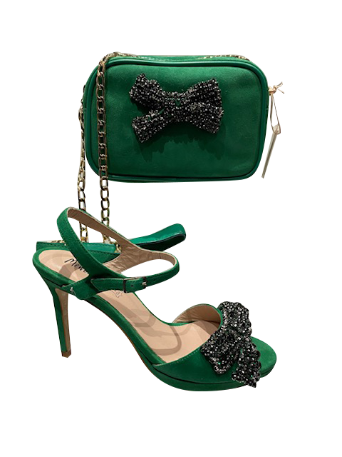 Green Shoes with Matching Bag