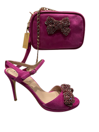 Pink Shoes with Matching Bag