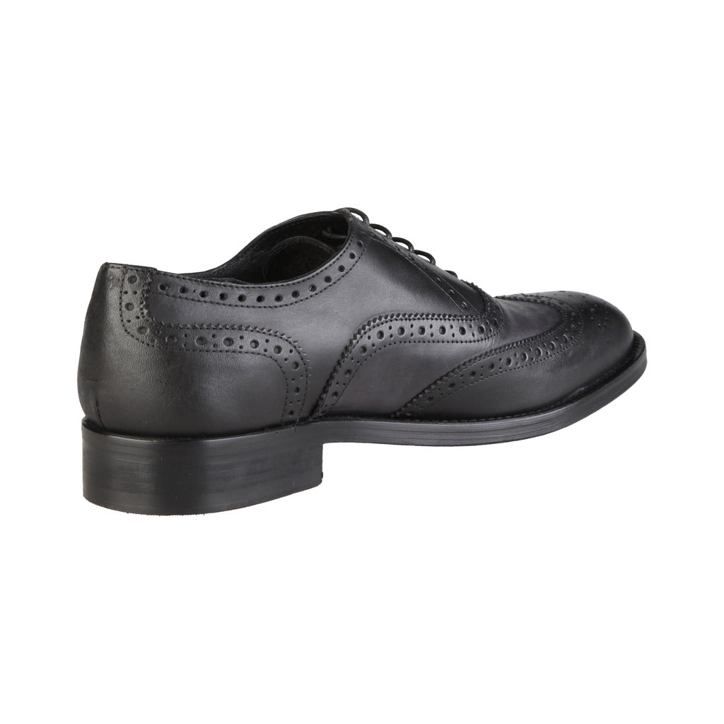 Black Lace-Up Oxford Shoes