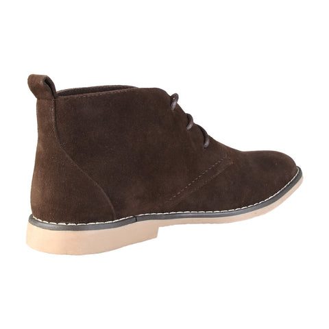 Brown Leather Lace Up Boot Shoes