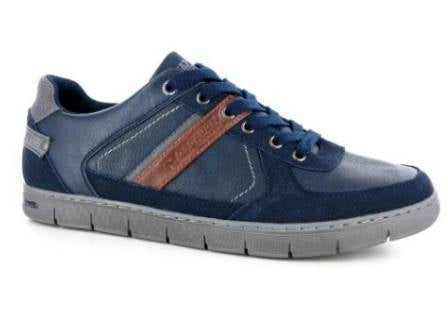 Rhapsody Men's Blue Lace Up Suede Sneakers