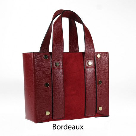 Studded Top Handles Tote Bag