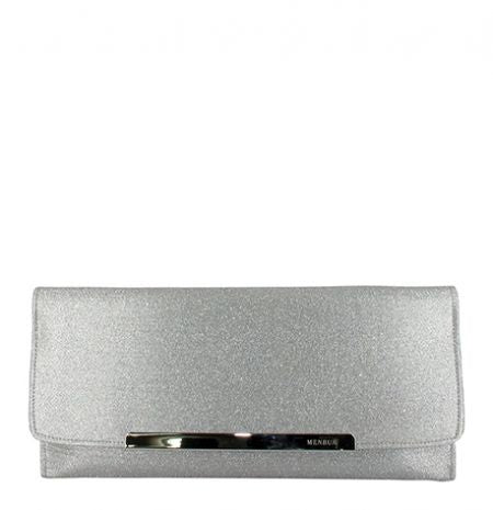 Silver Envelop Clutch Evening Bag