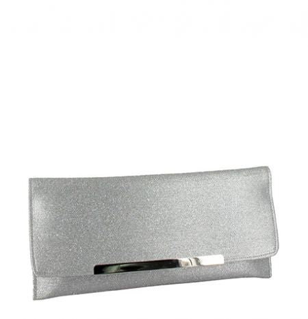 Menbur Silver Clutch Bag