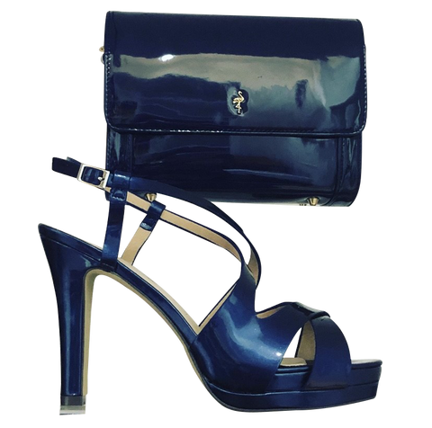 Menbur Patent Shoes with Matching Bag