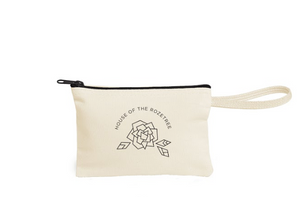 House of the Rozetree Canvas Wristlet
