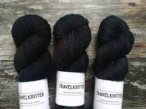 Merino Silk 4ply - Black Dog
