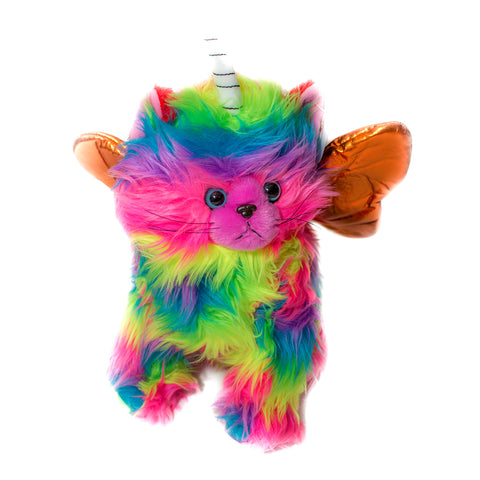 KITCHI - KITTEN  - Rainbow Unicorn Kitten with Orange Wings