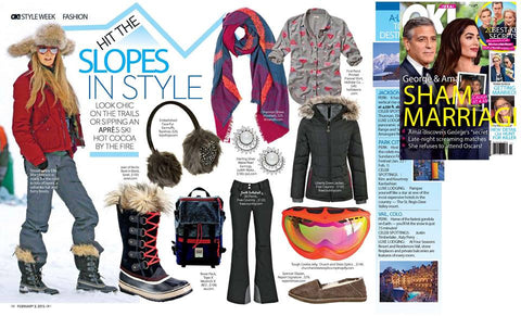 OK! magazine, Church and State Optics ski goggles