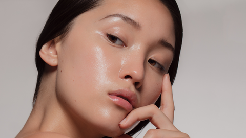 Woman with Oily Skin
