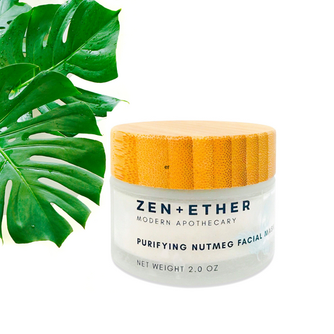 Zen + Ether Purifying Nutmeg Face Mask-Fuller's Earth Clay Mask