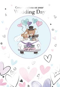 Wedding greeting card Retail: 3.99 Unit pack 6 Inside: May the day you share be filled with love...