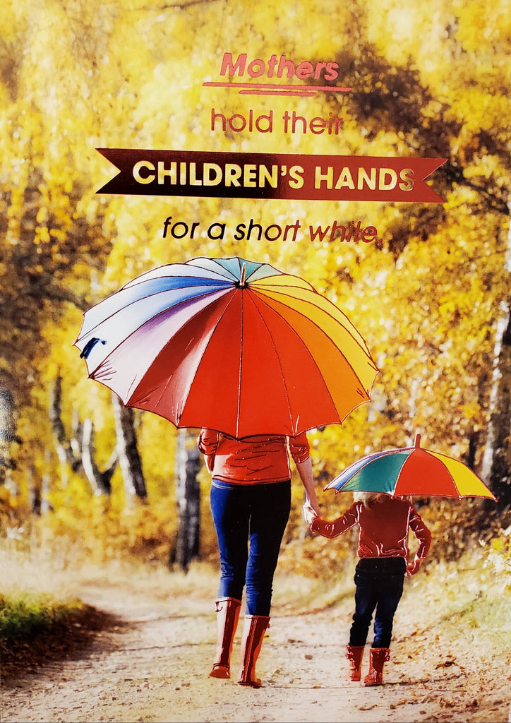 MOTHERS HOLD CHILDRENS HANDS