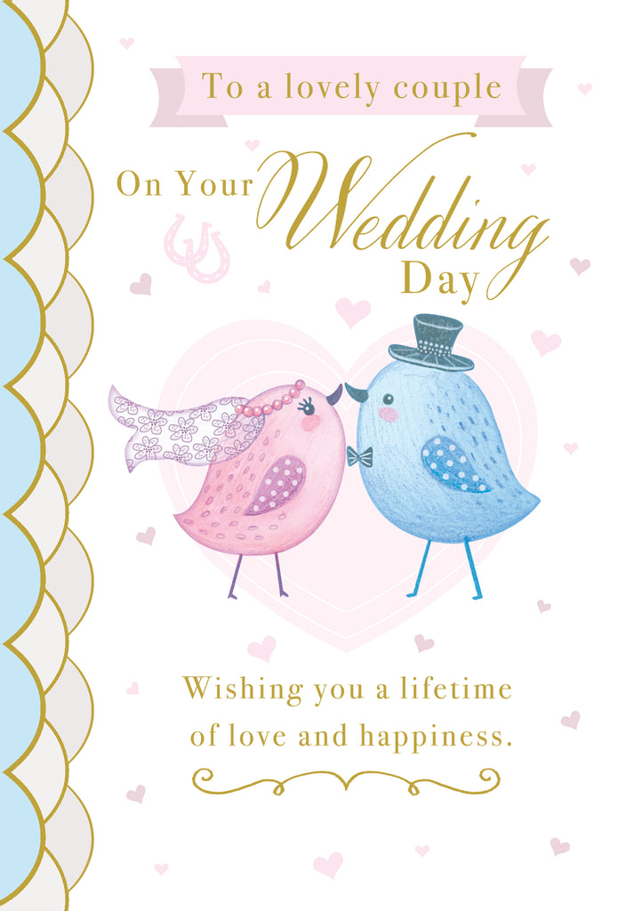 Wedding greeting card Retail: 3.49 Unit pack 6 Inside: Very best wishes to you on your wedding day...