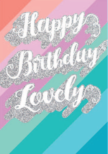 Lovely Happy Birthday card from the Glitz collection. Retail $3.99. Unit Quantity 6. Inside: Blank