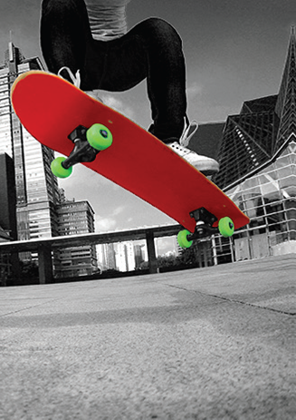 Skateboard blank card from the Concrete Jungle Collection. Retail $2.99. Unit Quantity 6. Inside: BLANK