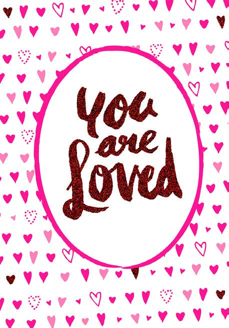 Red hearts- Inspirational Valentine's greeting card. Unit Quantity: 3. Retail: $3.49. Inside: Before our morning leap. Until we fall asleep...